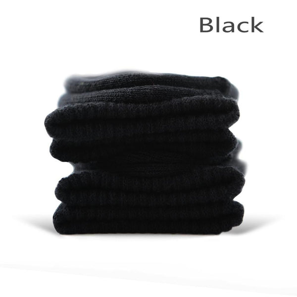 Black Cotton Terry-Loop Socks