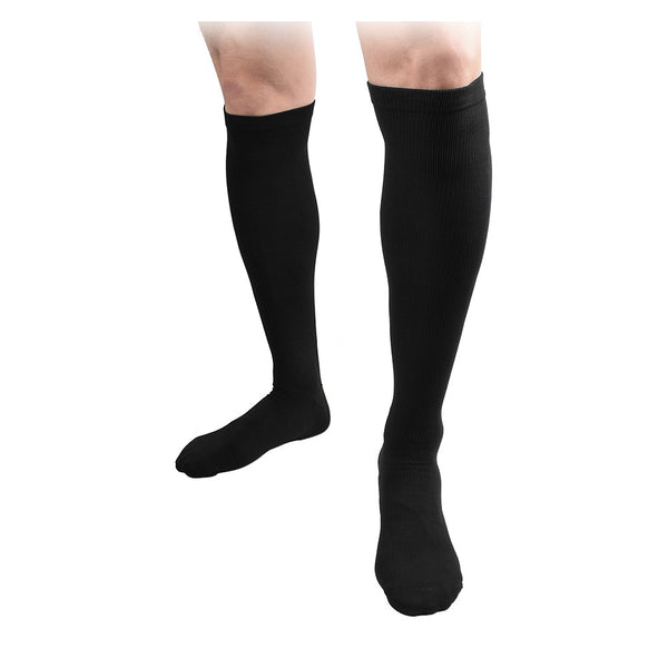 Black Unisex Knee High Compression Socks