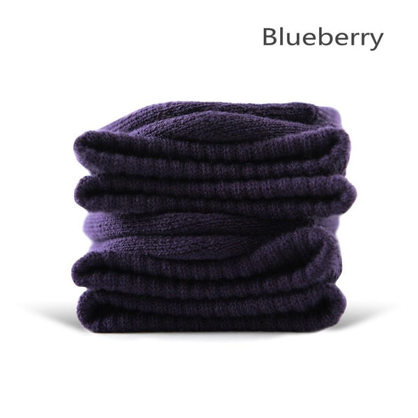 Blueberry Cotton Terry-Loop Socks