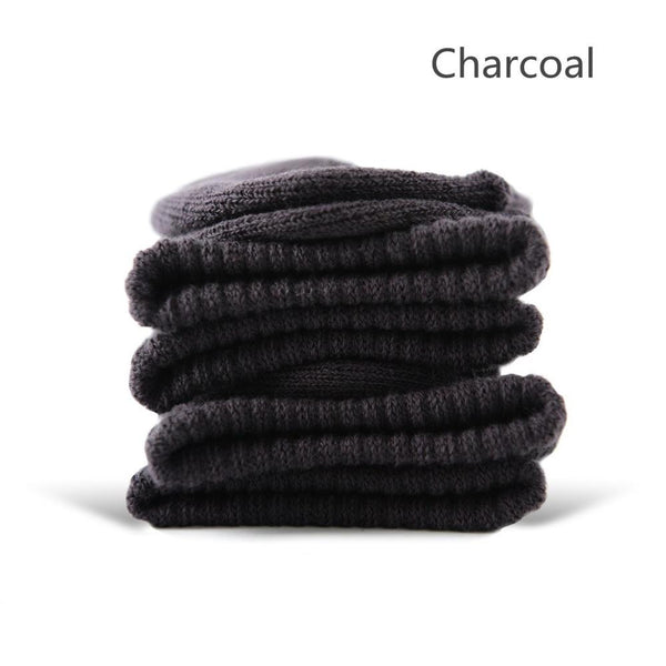 Charcoal Cotton Terry-Loop Socks