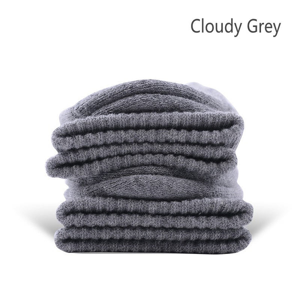 Cloudy Grey Cotton Terry-Loop Socks