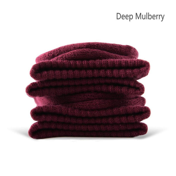 Dark Mulberry Cotton Terry-Loop Socks