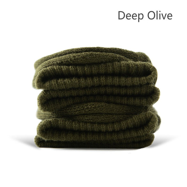 Deep Olive Cotton Terry-Loop Socks