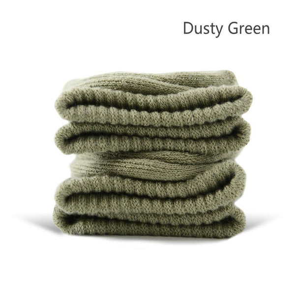 Dusty Green Cotton Terry-Loop Socks