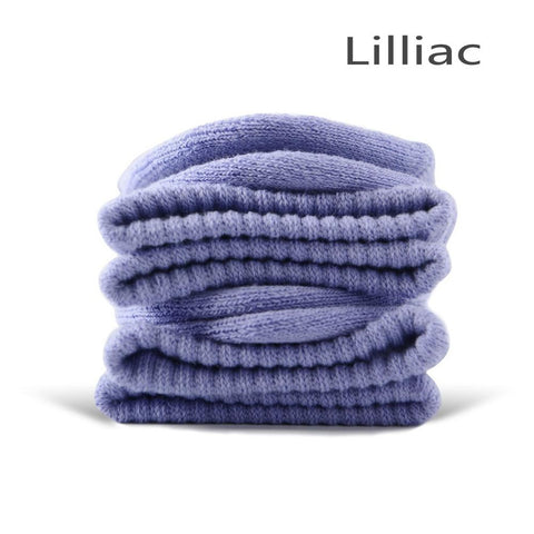 Lilac Cotton Terry-Loop Socks