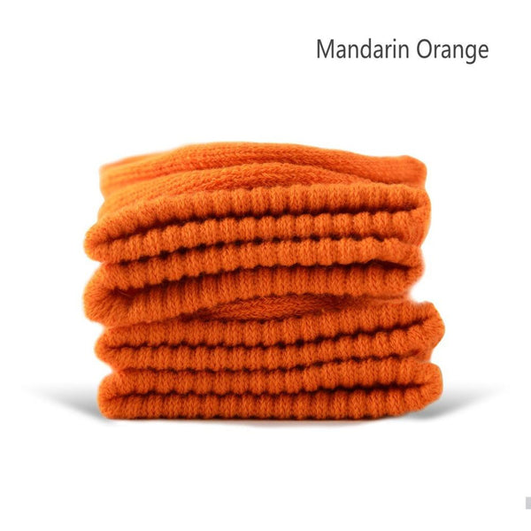 Mandarin Orange Cotton Terry-Loop Socks