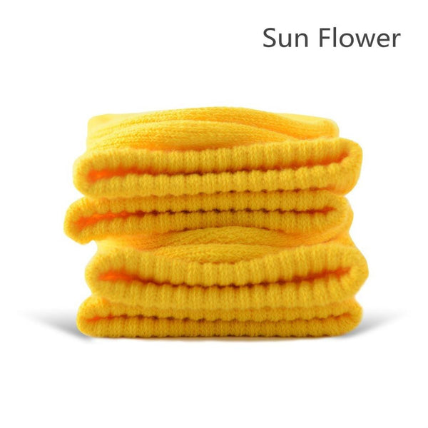 Sun Flower Cotton Terry-Loop Socks