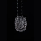 Black Rhodium Crystal Pouch