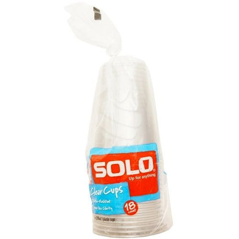 Solo Plastic Cups 10 oz 18 CT