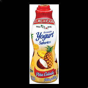 El Mexicano Drinkable Yogurt Pina Colada 32 OZ