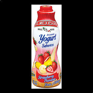 El Mexicano Drinkable Yogurt Strawberry Banana 32 OZ