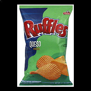 Ruffles Potato Chips Queso Cheese Flavored, 8.5 oz 8.5 OZ