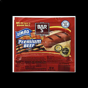 Bar S Franks Premium Beef, Jumbo 16 OZ