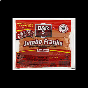 Bar S Franks Jumbo 16 OZ