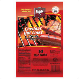Bar-S Cheddar Hot Links Sausage, 14 count, 42 OZ