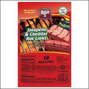 Bar-S Jalapeno & Cheddar Hot Links Sausage, 14 count, 42 OZ