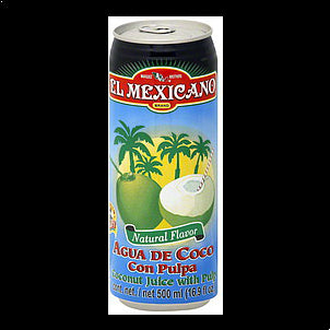 El Mexicano Juice Coconut, With Pulp, 16.9 OZ