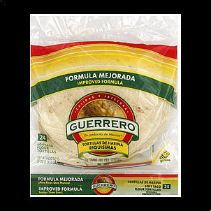 Guerrero Tortillas Flour, Soft Taco, 24.0 ea 24 CT