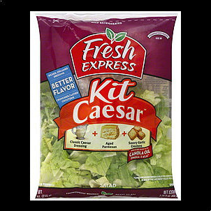 Fresh Express Salad Kit Caesar, 1.0 ea 10 OZ