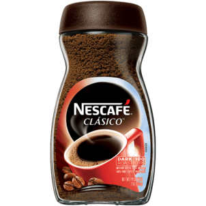 Nescafe Clasico Coffee, Instant, Dark Roast, Cups