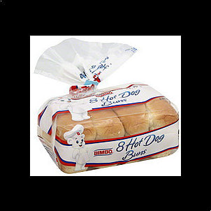 Bimbo Buns Hot Dog, 8.0 ea 8 CT