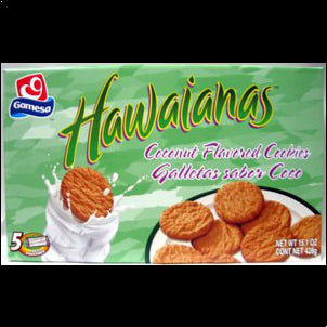 Gamesa Hawaiians Cookies - 14.8 oz 15.09 OZ