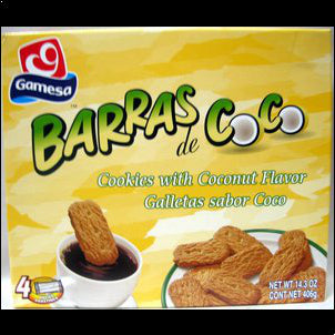 Gamesa Barras de Coco - Cookies with Coconut Flavor by Gamesa - 14.1 oz 14.3 OZ