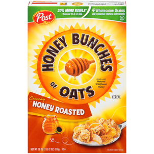 Honey Bunches Cereal, Crunchy Honey Roasted 18 OZ