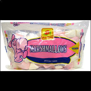 De la Rosa Pink and White Marshmellows - 14.5 oz
