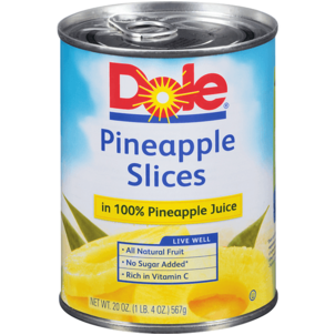 Dole Pineapple Slices in Pineapple Juice 20 OZ