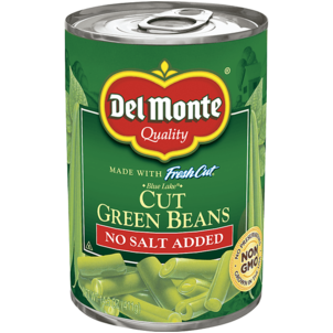 Del Monte Fresh Cut Green Beans, No Salt Added 14.5 OZ