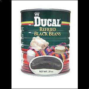 Ducal Refried Black Beans - 29 oz