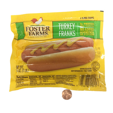 Fosters Farms Turkey Franks 16 OZ