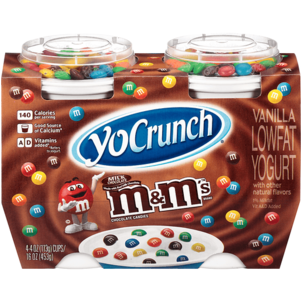 YoCrunch Yogurt, Lowfat, Vanilla, Milk Chocolate M&M's