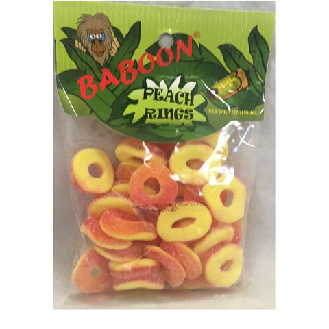 Baboon Peach Rings 7 OZ