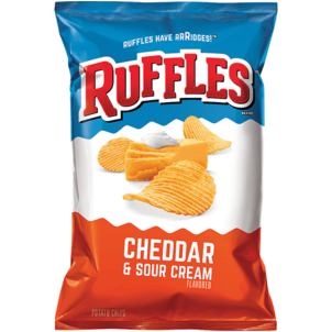 Ruffles Potato Chips, Cheddar & Sour Cream Flavored