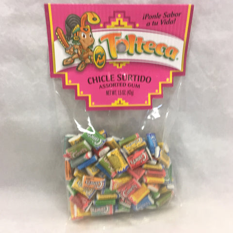 Tolteca Chicle Surtido / Assorted Gum 1.5 OZ