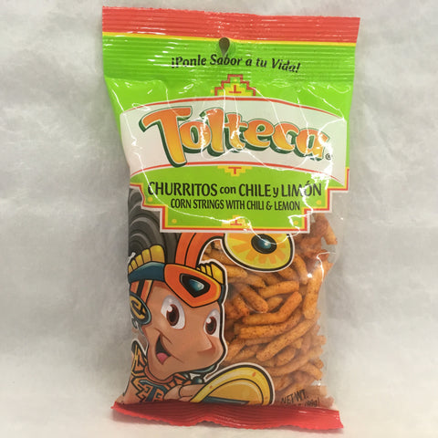 Tolteca Churritos con Chile y Limon / Con Strings with Chili & Lemon 3.5 OZ