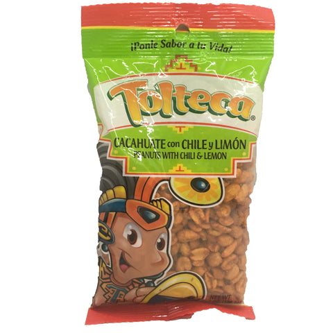Tolteca Cacahuate con Chili y Limon / Peanuts with Chili & Lemon 7.1 OZ