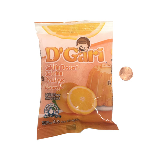 D'Gari Gelatin Dessert Orange / Naranja 5 OZ