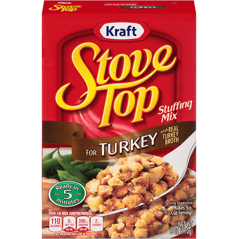 Stove Top Stuffing Mix, for Turkey 6 OZ