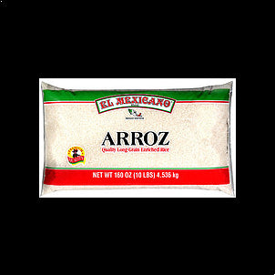 El Mexicano Long Grain Enriched Rice 10 LB