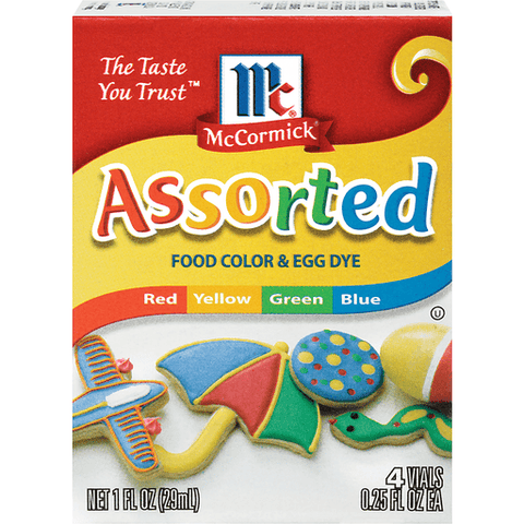 McCormick Assorted Food Color & Egg Dye 4 CT