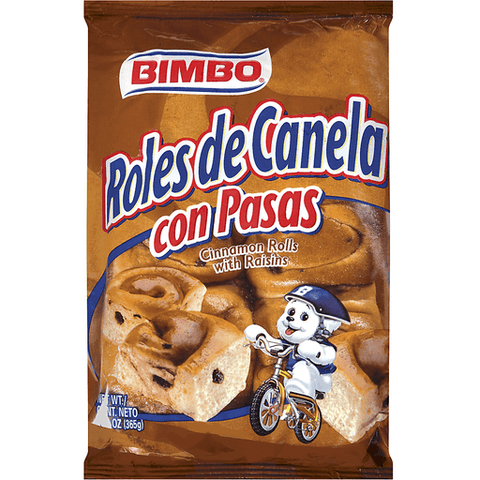 Bimbo Cinnamon Rolls, with Raisins 12.34 OZ