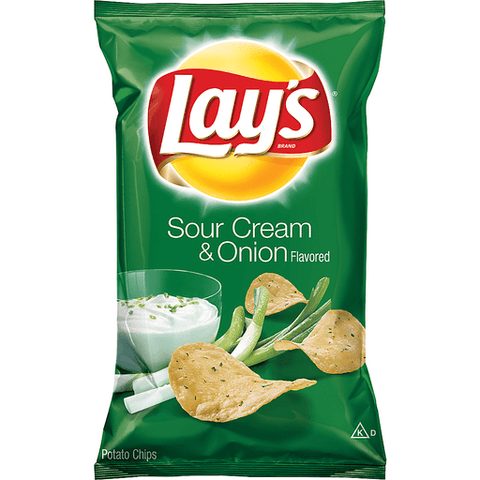 Lay's Sour Cream & Onion Potato Chips 7.75 OZ