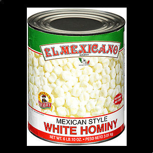 El Mexicano Hominy Mexican Style White 108 OZ