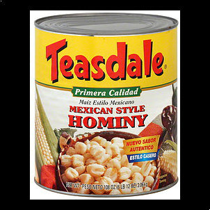 Teasdale Hominy Mexican Style 108 OZ