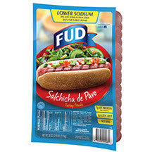 Fud Low Sodium Turkey Franks 2.18 LB