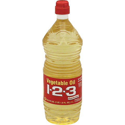1 2 3 Vegetable Oil 33.8 OZ,BTL