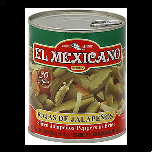 El Mexicano Jalapenos Peppers in Brine, Sliced 26 OZ